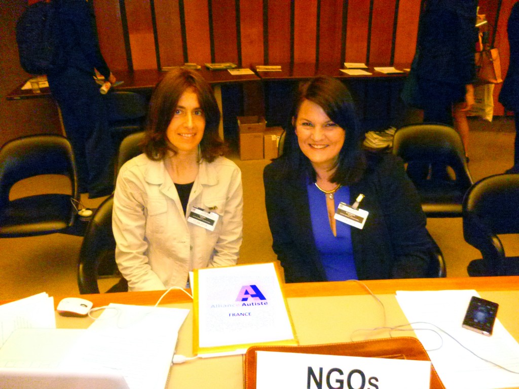 20150415 Alliance Autiste - ONU - DGD Education - Magali Pignard - Monique Blakemore