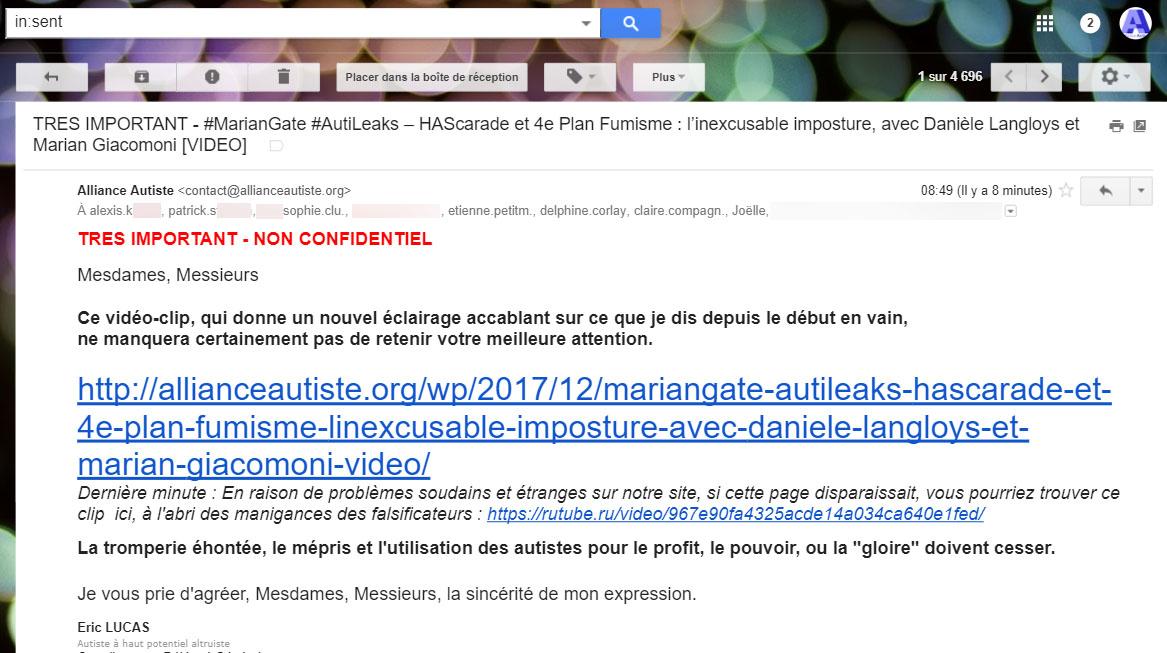 #MarianGate_#AutiLeaks_2_ HAScarade_4e-Plan-Fumisme_inexcusable-imposture_Danièle-Langloys_Marian-Giacomoni
